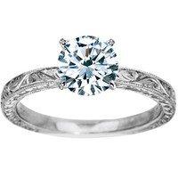 Hand-Engraved Laurel Ring