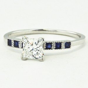 Modified Starla Ring with Sapphires