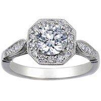 Victorian Halo Diamond Ring
