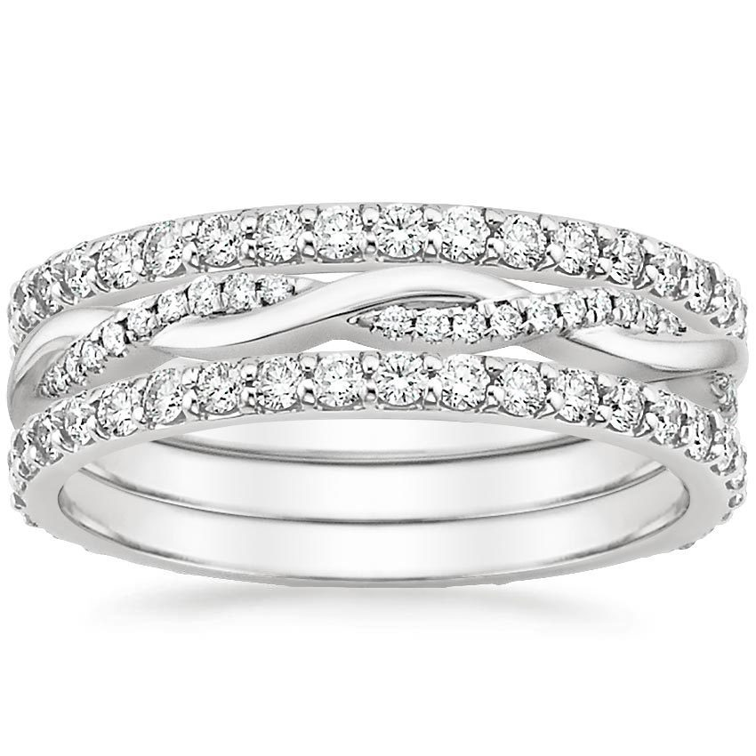 shop now petite twisted vine ring stack - Stackable Wedding Rings