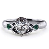Diamond and Emerald Claddagh