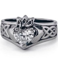 Custom Heart Claddagh Ring