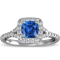 Cushion Sapphire Harmony Ring