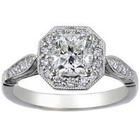 Cushion Victorian Halo Diamond Ring