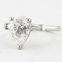 Pear and Tapered Baguette Ring