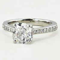 Petite Tapered Pave Radiant Ring