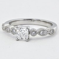 Tiara Radiant Diamond Ring