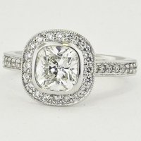 Fancy Bezel Halo Diamond Ring