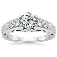 Art Deco Filigree Diamond Ring (1/4 ct.tw.)