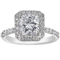 Fancy Halo Diamond Ring
