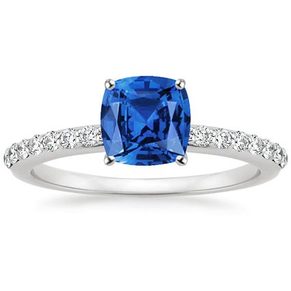 Cushion Cut Sapphire Engagement Ring
