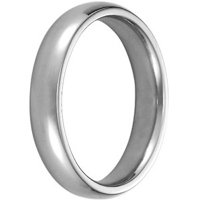 Men's White Gold Comfort Ring