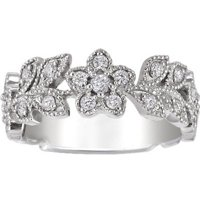 Jasmine Diamond Floral Ring