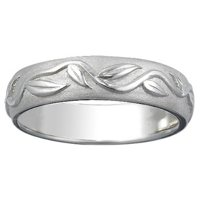 Men's White Gold Ivy Ring