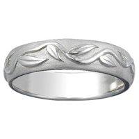 Men's White Gold Ivy Ring
