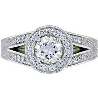 Custom Split Shank Halo Ring