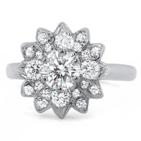 Helianthus Antique Diamond Ring