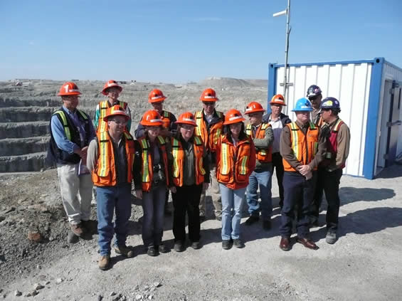 Diavik diamond mine employees