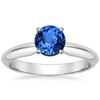 Sapphire Four Prong Classic Ring