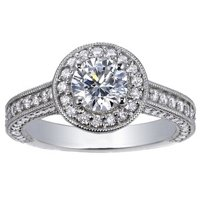 Luxe Pavé Diamond Halo Ring