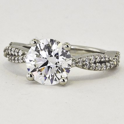Platinum Twisted Vine Diamond Ring (1/4 ct.tw.)