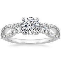 Lumiere Three Stone Ring