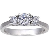 Three Stone Petite Trellis Ring