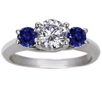 Diamond and Sapphire Trellis Ring