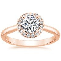 14K Rose Gold Halo Diamond Ring