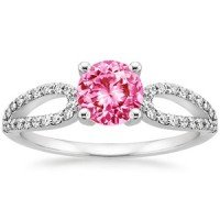 18K White Gold Sapphire Lumiere Diamond Ring