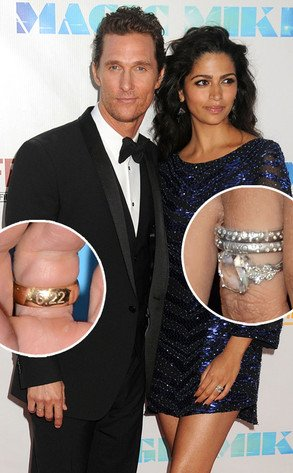Matthew McConaughey engraved ring