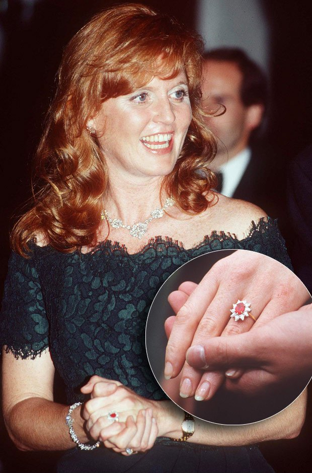Sarah Ferguson Ruby Engagement Ring