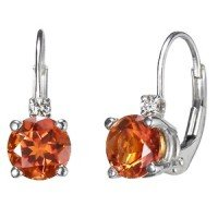 Silver Fire Citrine™ and Diamond Earrings