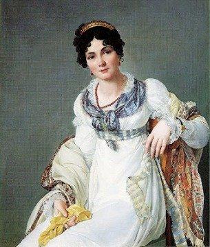 Victorian woman wearing garnet jewelry