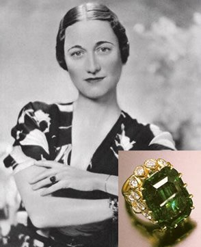 Wallis Simpson Emerald Engagement Ring