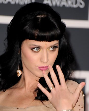 Katy Perry Engraved Engagement Ring