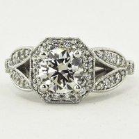Luxe Victorian Split Shank Ring