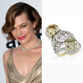 Milla Jovivich Engagement Ring