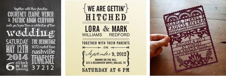 Unique Etsy Wedding Invitations