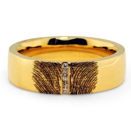 online order products send buy engraved gold ring fingerprint rings engagement and