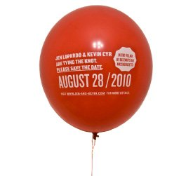 """Please Inflate"" Balloon Wedding Invitation"