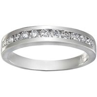 Platinum Channel Set Round Diamond Ring (Ladies)