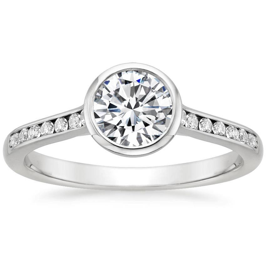 and milgrain halo white channel gabriel gold ring rings engagement diamond double setting