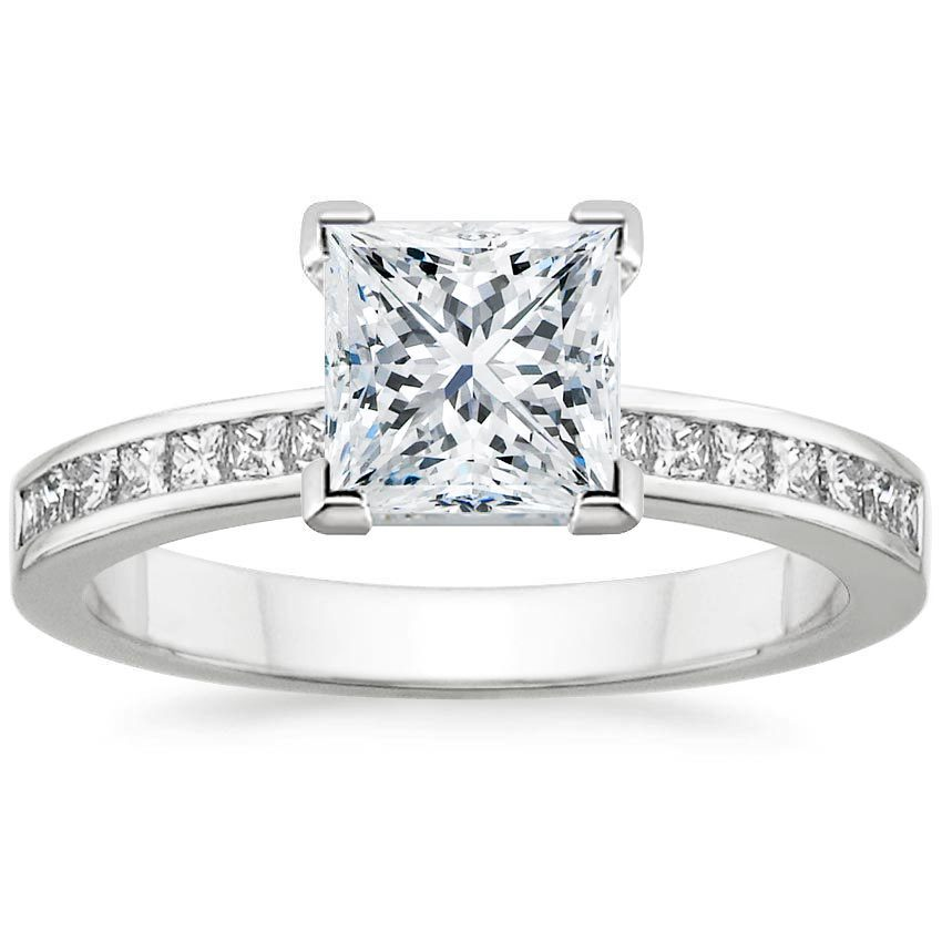 ring in your ct own diamond channel engagement build princess setmain cut rings gold set white