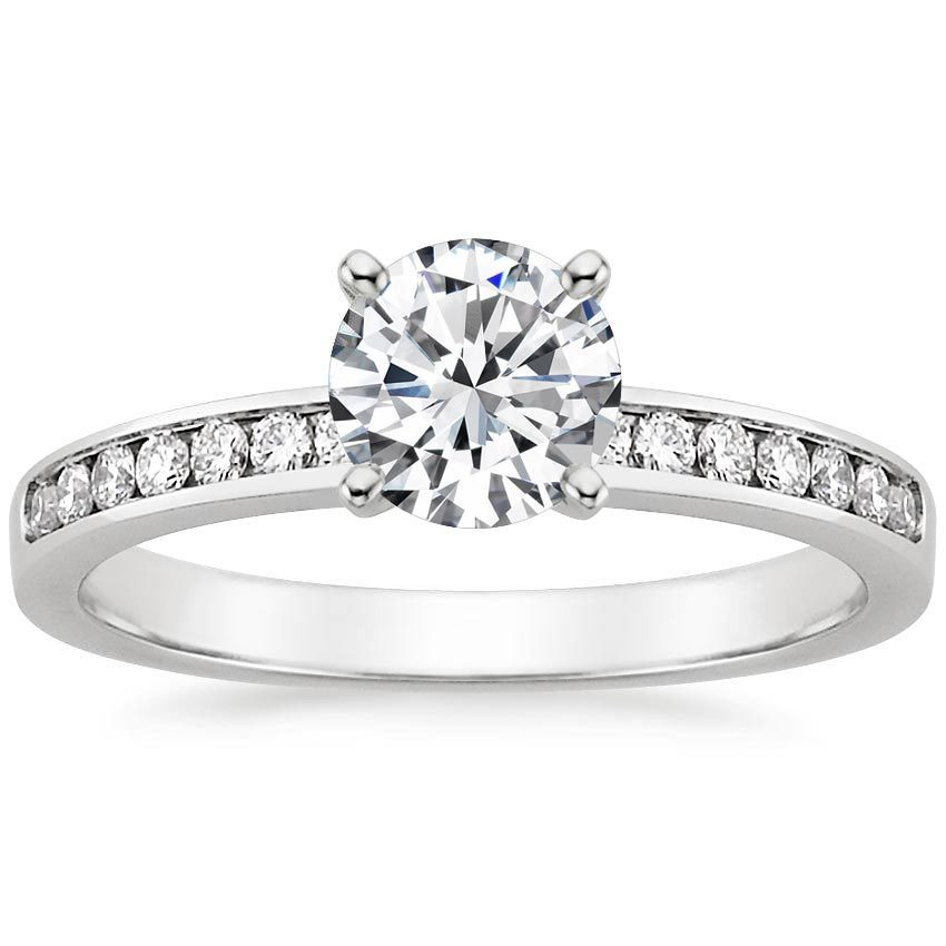 set diamond rings ring gold channel eternity