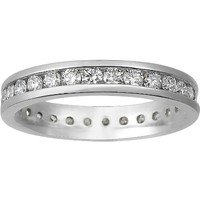 Channel Set Round Diamond Eternity Bands