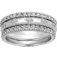 Diamond Petals Ring Stack