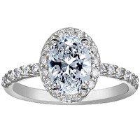 Fancy Diamond Halo Ring