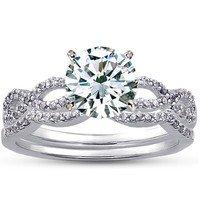 Infinity Diamond Ring Matched Set