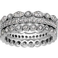 Luxe Antique Eternity Diamond Ring Stack